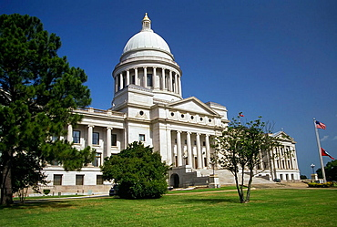 The State Capitol Building in Little Rock Arkansas, USA