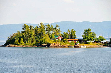 Island off of Lake Superior Provincial Park between Sault Ste Marie and Wawa Ontario Canada