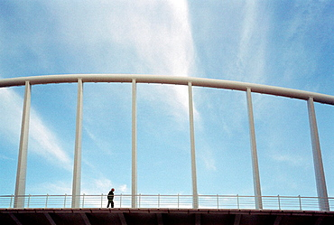 Peineta bridge by Santiago Calatrava, Valencia, Spain