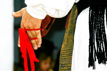 The world's biggest castanets, Traditional costumes and folk dances, Sant Miquel de Balansat, Ibiza, Balearic Islands, Spain