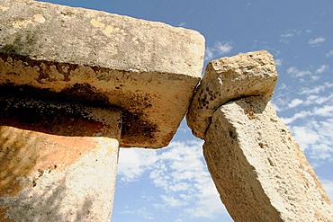 Taula, Talayotic village Talati de Dalt (1500 bc), Menorca, Spain
