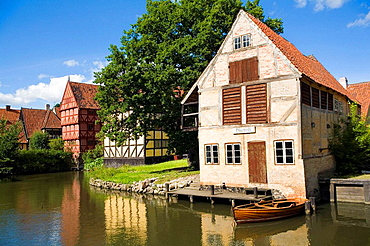 Old houses in the Den Gamble By (traditional architecture museum), Aarhus, Jutland, Denmark