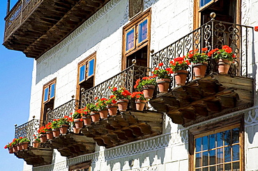 Detail of the Casa de los Balcones, La Orotava, Tenerife, Canary Islands, Spain