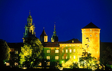 Wawel castle and cathedral, Krakow, Poland