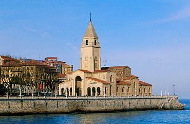 San Pedro Church in Gijon, Asturias, Spain