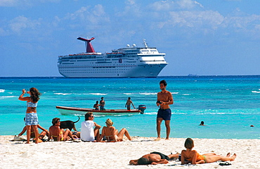 Cruise ship, Playa del Carmen, Caribbean, Quintana Roo, Mexico
