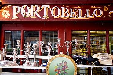 antiques shop in Portobello Road, Notting Hill, London