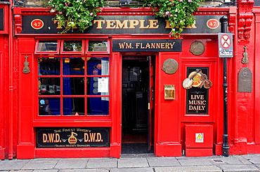Ireland Dublin pubs Temple Bar in Temple Bar area
