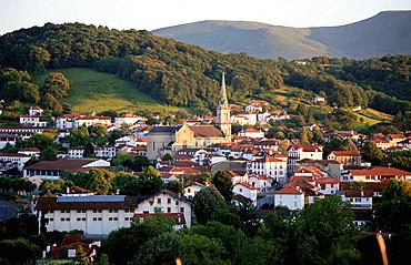 Hasparren village, Pyrenees-Atlantiques, France