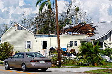 Hurricane Charley, Punta Gorda, Wrecked home