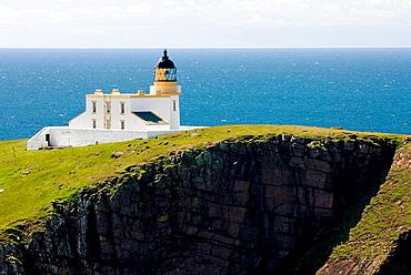 Rhu Stoer Lighthouse at Point of Stoer, Assynt_Coigach Scenic Area Scotland Scotland
