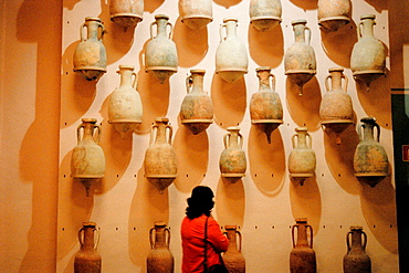 Roman amphoras, Museo Nacional de Arqueologia Maritima, Cartagena, Murcia, Spain