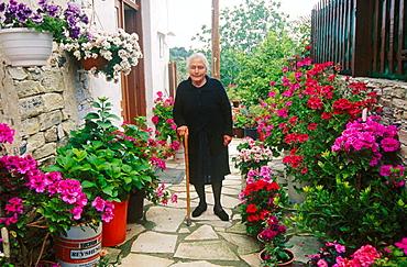 Old lady at Kato Lefkara, Cyprus