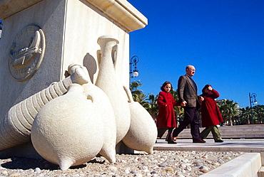 Amphoras in Harbour, Cartagena, Murcia region, Spain