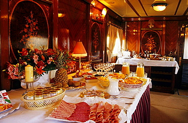 Breakfast in Al Andalus Express Train, Andalusia, Spain