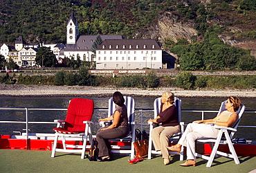 Germany - Rhineland-Palatinate - Bornhofen, Cruise down the Rhine river on board of Rhine Emerald boat