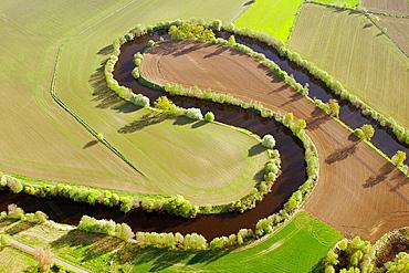 Stream in field landscape, Hultsfred, Smv•land, Sweden - 817-161804
