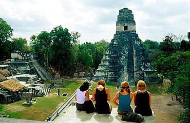 Temple of the Giant Jaguar, Tikal, Guatemala