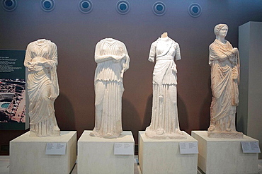 Statues, Antiques in city museum, Thessaloniki (Salonica), Greece