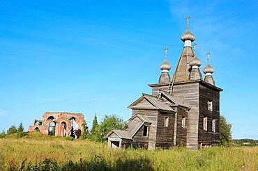 Ressurrection wooden church (1766), Rakula, Archangelsk (Arkhangelsk) region, Russia