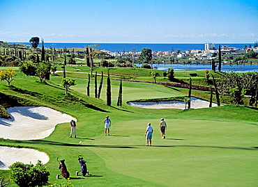 Flamingos golf course, Estepona, Costa del Sol, Malaga province, Andalusia, Spain