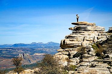 Erosion working on Jurassic limestones, Torcal de Antequera, Malaga province, Andalusia,