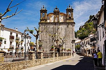 Baroque church of Our Lady of Aurora, Grazalema, Pueblos Blancos ('white towns'), Cadiz province, Andalucia, Spain