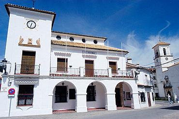Town Hall in the Plaza de Espana, Grazalema, Cadiz province, Andalusia, Spain