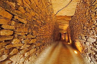 El Romeral Dolmen at Antequera, Malaga province, Andalucia, Spain.