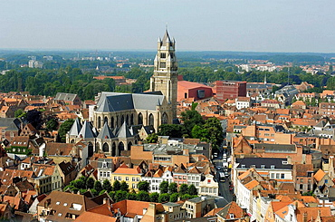 St  Saviour's Cathedral, view from the Belfry Brugge, the Venice of the North  Western Flanders  Belgium