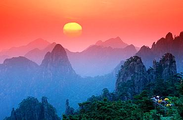 Huangshan Mountains, China.