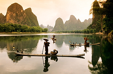 Fisher scenario, Xingping Li river, China.