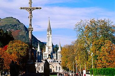 Our Lady of Lourdes sanctuary, Hautes-Pyrenees, France.