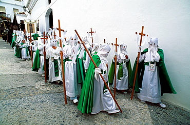 Holy Week, Frigiliana, Malaga, Andalusie, Spain