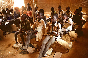 Scrubland school, Dogon Country, Mali