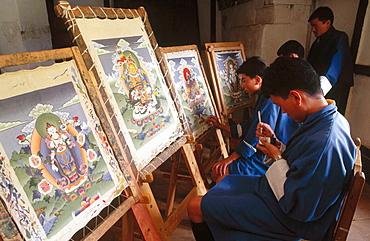 Painting school, Thimphu, Bhutan.