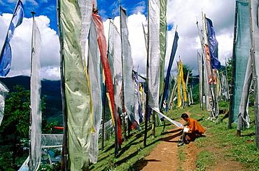Prayer flags, Sangye Gang, Thimphu, Bhutan.