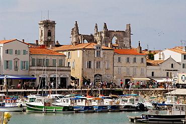 Harbour, Saint-Martin, Ile de Re, Charente-Maritime, Poitou Charentes, France.