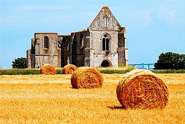 Abbaye N.D, des Chateliers, Rivedoux, Ile de Re, Poitou-Charentes, Charente-Maritime, France.