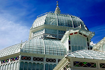 San Francisco Conservatory of Flowers in Golden Gate Park.