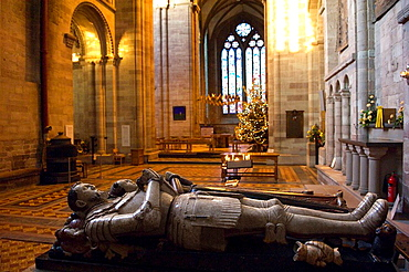 Effigies of Sir Alexandra denton and Anne Wilson in the South Transept of Hereford Cathedral, Hereford City Herefordshire, England, United Kingdom