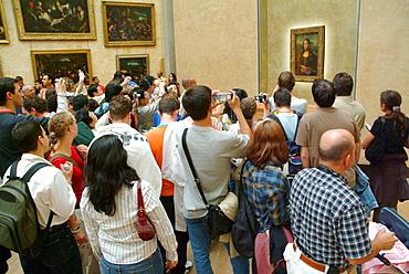 Mona Lisa' (aka 'La Gioconda') in the Louvre Museum, Paris, France