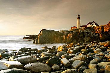 Portland Head Light lighthouse, South Portland, Maine, USA