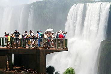 Tourists at Iguazu Falls, Brazil - 817-177195