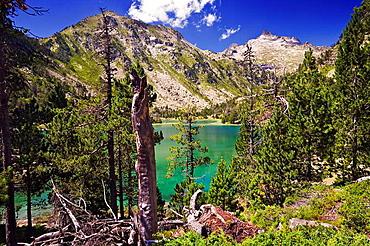 Lago de Aubert Reserva Natural de Neouvielle Pirineo frances Francia Europa