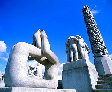 Man's Destiny', statues and monolith, Frogner Park, Oslo, Norway
