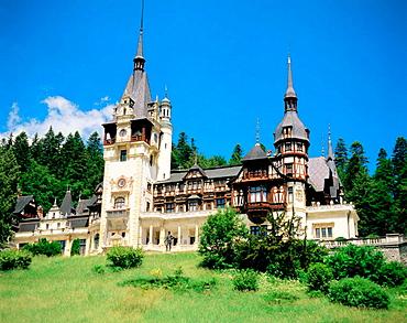 The Royal Peles Castle in Sinaia, Transylvania, Romania