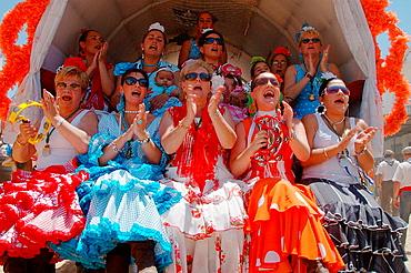 Romeria (pilgrimage) to El Rocio, Huelva province, Spain, It seem happiest day of the life
