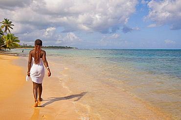 Woman at Las Terrenas beach, Dominican Republic
