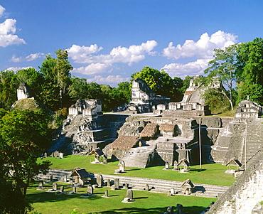 North Acropolis, Mayan ruins of Tikal, Peten region, Guatemala